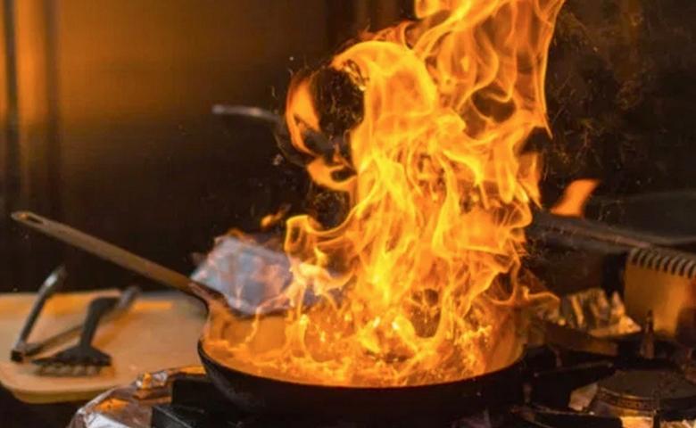 požiar pri varení