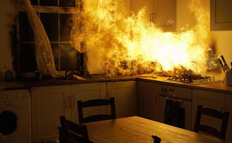 požiar v domácnosti